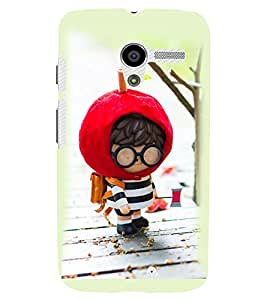 Printvisa Animated Cute Boy Going To School Back Case Cover for Motorola Moto X XT1058::Motorola Moto X (1st Gen)
