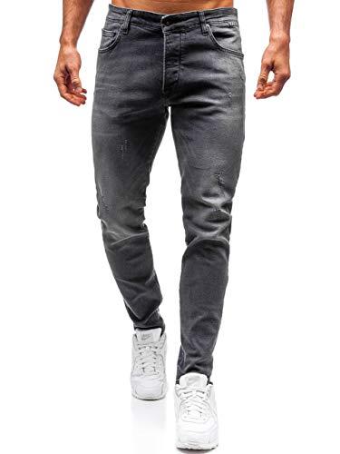 BOLF Herren Jeanshose Freizeit-Hose Casual Style Breezy 7160 Dunkelgrau 30 [6F6] | 05902646949086