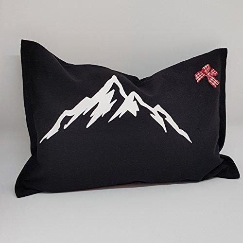 Kissen mit Berg gefüllt mit 100% Zirbenspäne Größe: 29x19 cm Dekokissen Duftkissen Zierkissen besser Schlafen