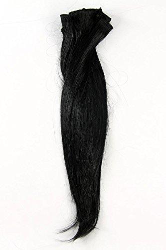 Postiches Femmes noir polyester 40 cm