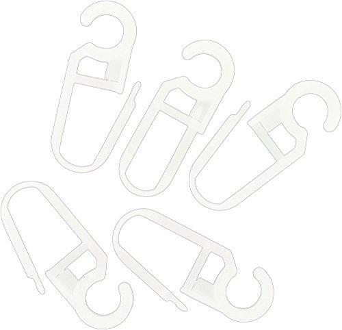 ATELIERS 28 Agrafe Clips pour diamètre 20 mm Blanc - Vendu 10