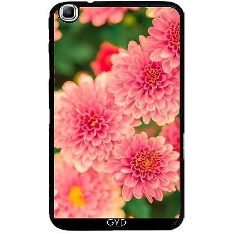 Funda para Samsung Galaxy Tab3 8.0 SM-T310 - Dalias Rosadas Flores Floral by Petra