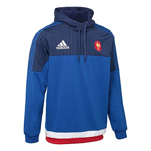 France 2015 Players Hooded Rugby Sweat - size M (Adidas Rugby-bekleidung)