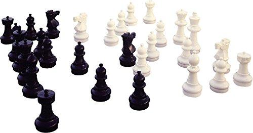 Sport-Thieme Bodenschachfiguren Set, Standfläche ø 22,5 cm, Königshöhe 64 cm - Sockel Schach