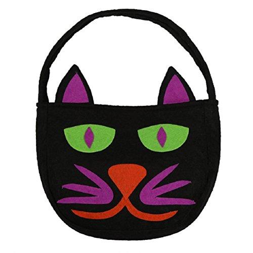 Culater Sonrisa de Halloween de la calabaza Bolsa Niños caramelo niños del bolso (one size, negro)