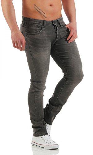 JACK & JONES Herren Slim Jeans Grau (GE101) ...