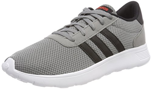 adidas Unisex-Kinder Lite Racer Gymnastikschuhe, Mehrfarbig (Grey Three F17/Core Black/Core Red S17), 37 1/3 - Jungen Kinder Schuhe Adidas