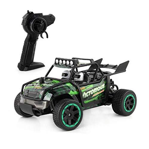 RC Auto 2,4 GHz High Speed   Racing Car 23 km/h 1:18 Skala Eletric Radio Control Monster Truck Geländewagen Buggy Hobby Elektronisches Spielzeug, Fernbedienung Auto Für Kinder (Color : Green)
