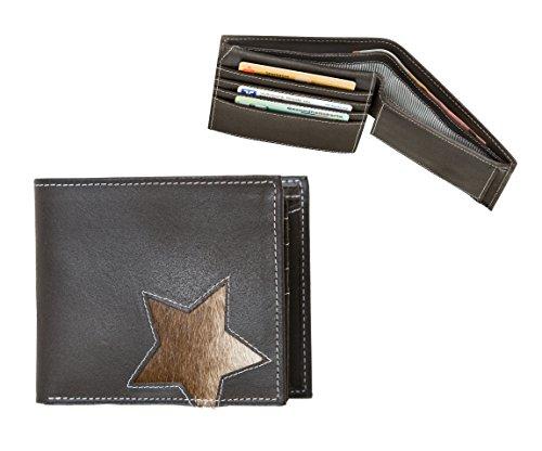 bull-hunt-gelbborse-star-braun-portemonnaie-echt-leder-unikat-ca-12cm-hohe-10cm