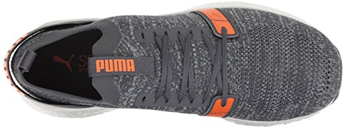 PUMA Men s Nrgy Neko Engineer Knit Sneaker  Iron Gate-Firecracker-Quarry  10 5 M US