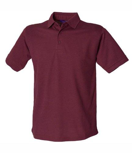 HenburyHerren Poloshirt Borgogna