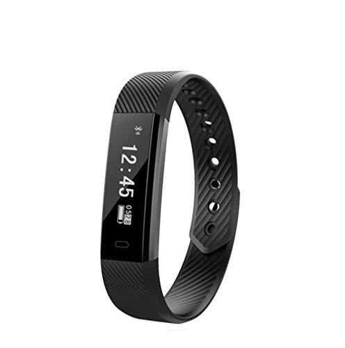 FuSon Fitness Tracker Uhr,Wasserdichte Schrittzähler Activity Tracker Uhr mit mehreren Sport / Schritte Counter / Schlaf Monitor / GPS-Armband für Android und iOS Smartphone verbunden (Schwarz) (Gps-marken-liste)