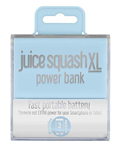 Juice Squash XL Fast Charge Mini Portable Power Bank, 5600 mAh, Pastellblau -