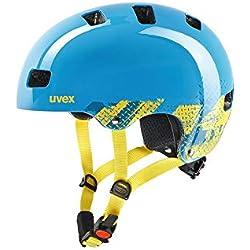 Uvex Kid 3 Casco clásico City Bike Helmet 51/55 Azul - Cascos para Bicicleta (Casco clásico, City Bike Helmet, 51/55, Armazón Duro, Policarbonato, Azul)