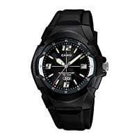Casio Enticer Men's Black Dial Resin Analog Watch - MW-600F-1AVDF