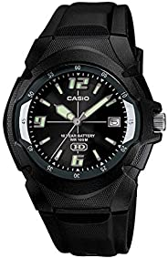 ساعة كاسيو انتايسر للرجال شاشة سوداء سوار راتنج - MW-600F-1AVDF