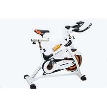 Astan Hogar B Evolution Dual Cross Spinning Bicicleta, Unisex Adulto, Blanco/Naranja,