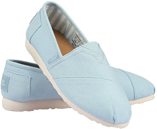 Unisex Fashion Paperplanes 1196–Casual, facile à enfiler-Ons Chaussons Bleu - 1196-Skyblue
