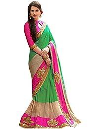 Adorn Fashion Women's Cotton Silk Saree (Sn-45-C_Green)
