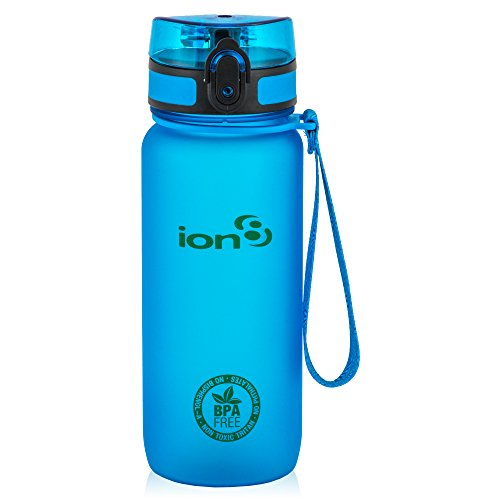 Ion8, Bottiglia per l'acqua, a prova di perdite, senza BPA., Unisex, Blu (Frosted Blue), 750 ml ( 22oz )