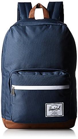Herschel 10011-00007 Pop Quiz Backpack Rucksack, 1 Liter,Blau(Navy/Tan Synthetic Leather
