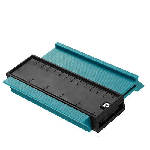 5-Zoll-Konturprofil-Messgerät, Konturkopier-Kunststoffprofil-Kontur-Duplizierer Profil-Messgerät mit Linienführung für das Wickeln von RohrenRundrahmenKanäleHolzmarkierung Grün