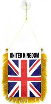 AZ FLAG Fanion Royaume-Uni 15x10cm - Mini Drapeau Anglais - UK - Grande Bretagne 10 x 15 cm spécial Voiture - Bannière