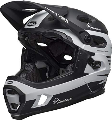 Bell Unisex- Erwachsene SUPER DH MIPS Fahrradhelm, m Black/White Fasthouse, M