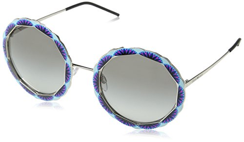 Emporio Armani Damen 0ea2054 Sonnenbrille, Grau (Silver), 55