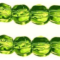 100pièces 6mm facettes cristal Perles de verre–Citron vert A3509