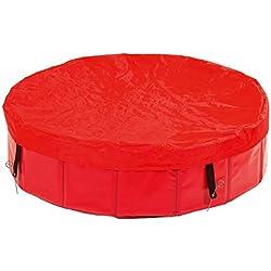Karlie perro cubierta de la piscina, 120x 13cm, color rojo
