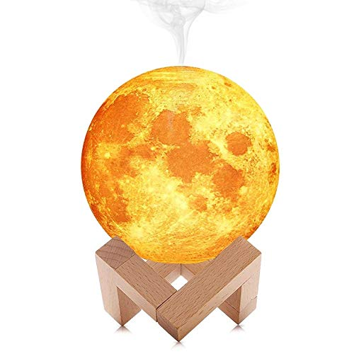 MMGN 880 ml luftbefeuchter 3D mond Lampe licht diffusor Aroma ätherisches öl ultraschall humidificador Nacht kühlen Nebel luftreiniger -