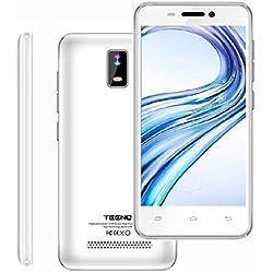 """4G 4.0"""" HD IPS Téléphone Portable Débloqué 1Go RAM 8Go ROM (Android Double SIM Slots Double Caméras Quad Core) Blanc"""