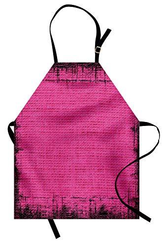 chschürze, Futuristisches Design in Alten Impressionen Latex Grungy Murky Surface Pastell-Farben, Farbfest Höhenverstellbar Waschbar Klarer Digitaldruck, Fuchsienfarben Rosa ()