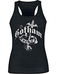 Batman Gotham Rocks Top Femme noir