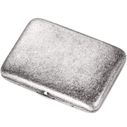 Reines Kupfer Zigarettenetui 16 Sticks Antik Silber Metall ultradünne kreative Persönlichkeit Mode Zigarettenetui männlich tragbare Zigarettenetui