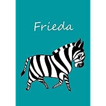 Frieda: Notebook / diary / coloring book -  DIN A4 - Zebra - blank