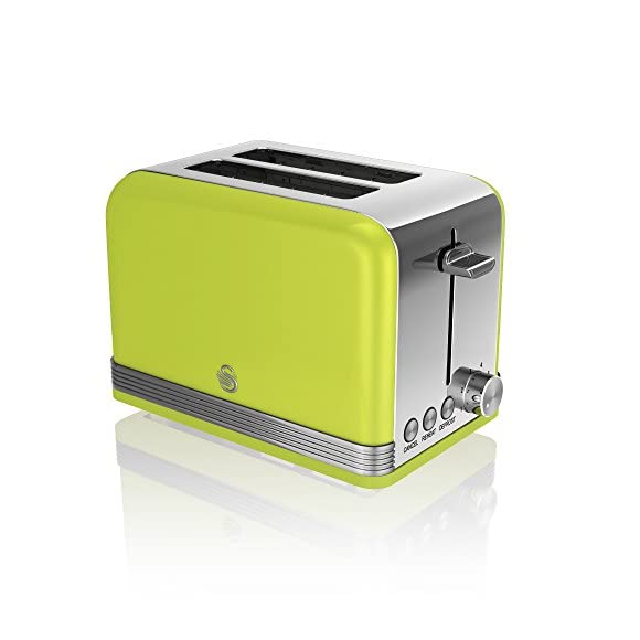Swan ST19010LN 2-Slice Retro Lime Green Toaster