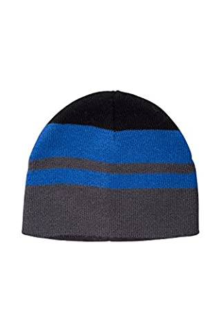 Mountain Warehouse Chamoix Kids Beanie - Knitted Design, Great for Skiing, Striped Pattern with Warm & Comfortable - keep child warm out on the ski field