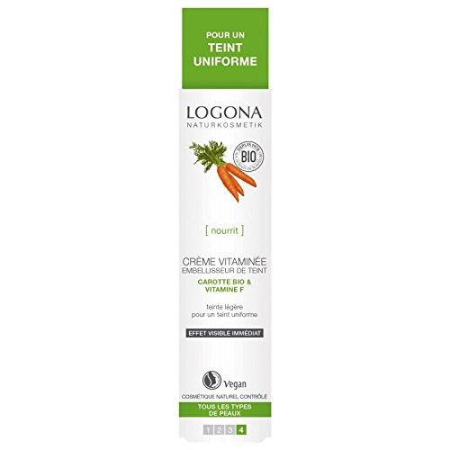 Crema vitaminada embellecedora del cutis con zanahoria y vitamina F, 30ml.-Logona.