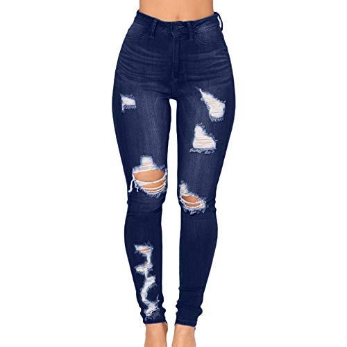 6485906ed2 STRIR Vaqueros para Mujer Cintura Alta Tallas Grandes Pantalones Rotos  Leggins Mujer Pantalones Jeans Mujer Elástico