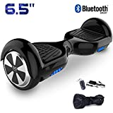 Cool&Fun 6.5' Hoverboard Patinete Eléctrico Scooter Talla LED 350W*2 Bluetooth (Black-Black)