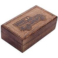 Store Indya, Handmade Mangowood decorativo Gioielleria bagagli Trinket Keepsake multiuso Box con l