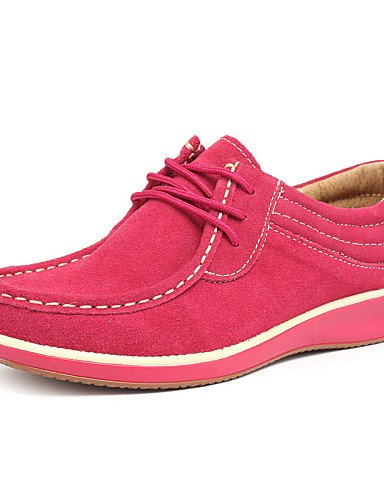 ZQ 2016 Scarpe Donna - Stringate - Casual - Comoda / Decolleté con cinturino - Piatto - Scamosciato - Giallo / Rosa / Arancione , orange-us8.5 / eu39 / uk6.5 / cn40 , orange-us8.5 / eu39 / uk6.5 / cn4 orange-us8.5 / eu39 / uk6.5 / cn40