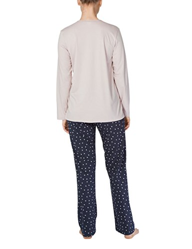 Calida Deborah Damen Pyjama, Pigiama Donna Blau (Parisian Night 429)