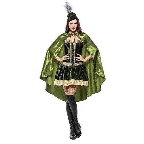 YaXuan Prinzessin/Göttin Cosplay Kostüm/Maskerade Frauen Weihnachten/Halloween / Karneval Festival/Urlaub Halloween Kostüme Grün/Renaissance / Satin (Farbe : Picture Color, Größe : XL)