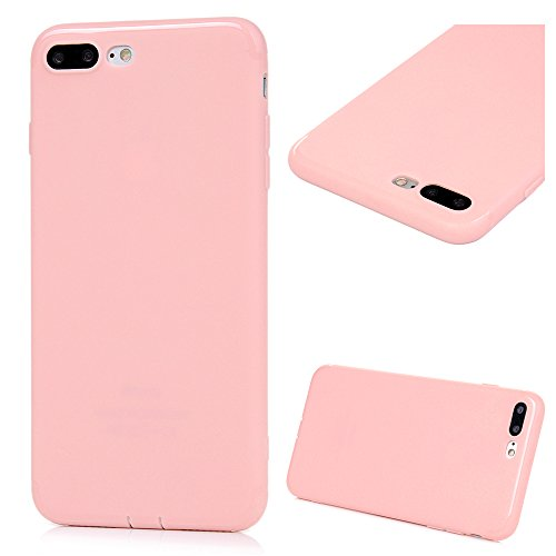 iPhone 7 Plus Hülle KASOS iPhone 7 Plus Handyhülle Schale TPU Etui Protective Case Schützende Stoßdämpfung Cover mit Stöpsel Staubschutz Wassermelone-Rot Rosa nackt
