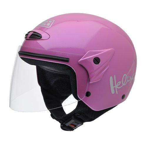 NZI 050215G203 Helix II Jr Metallic Motorcycle Helmet, Pink, Size 50-51 (S)