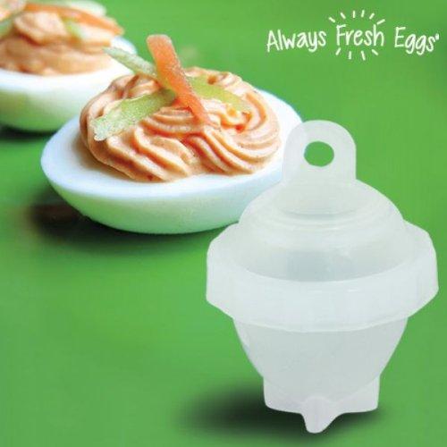 Always Fresh Kitchen Eggs mélanger œufs, Blanc, 16 x 5,5 x 16 cm, 7 pièces