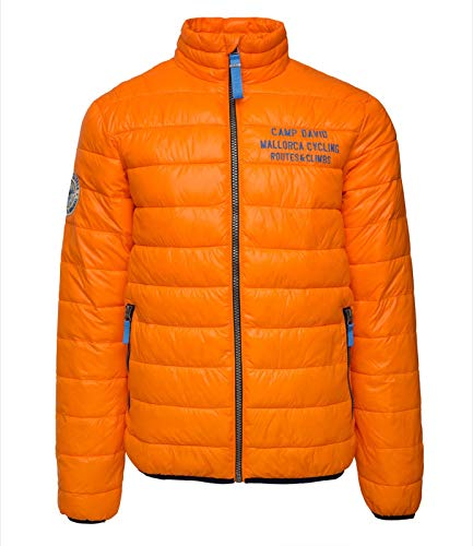 Camp David Steppjacke mit Inside Photoprint Flame orange XL